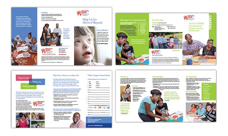 Heaven\'s Hands Community Services Brochures | KyleHall Design